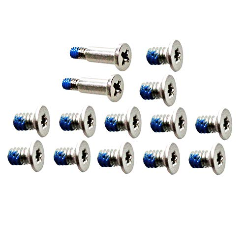 GinTai 12pcs Bottom Cover & 2pcs Nameplate Screws Replacement for Dell XPS 13 9343 9350 9360 15 9550 9560 M5510