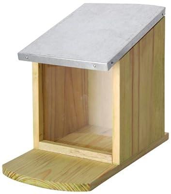 Esschert WA09 Design 23 x 18 x 12cm Wood Squirrel Feeder - Natural