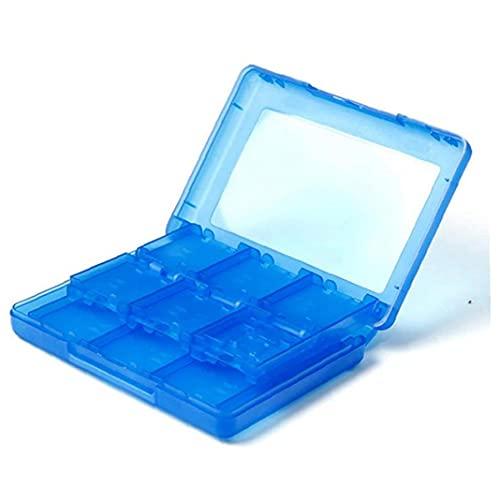 28 en 1 Juego Tarjeta Caja Cuadro Titular Cartucho para Nintendo 3DS Juegos Vedio (Azul) con la función Divertido y Diseño