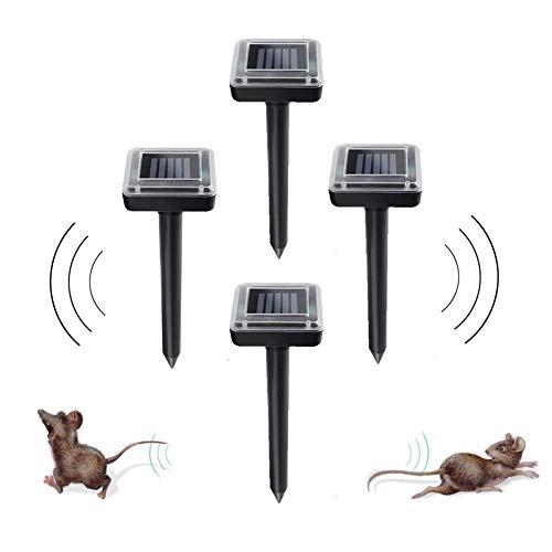 Mole Control 4 Piezas de la Serpiente Solar Rata Repelente de Gran Alcance, Puede efectivamente Ahuyentar Animales de madriguera