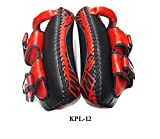 Twins Special Curved Kick Pads KPL-12 Black-Red Medium Large for Training Muay Thai Kickboxing MMA K1