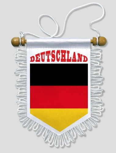KOO Interactive - Deutschland - 13 x 15 cm - Auto Wand Fahne Flagge Wimpel