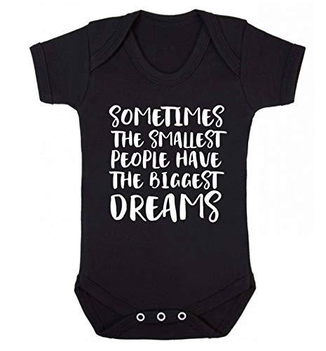 Flox Creative Baby Gilet pour bébé Motif Smallest People Biggest Dreams - Noir - XL