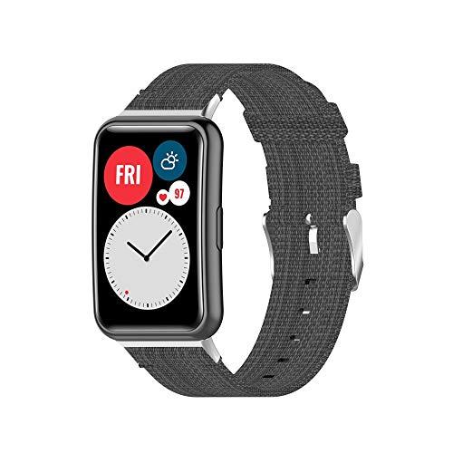 Angersi Cinturino per Watch FIT Cinturino,Waterproof Rilascio rapido Soft Nylon Sport Cinturino Bande di ricambio compatibile con Huawei Watch FIT Orologio Smart Fitness