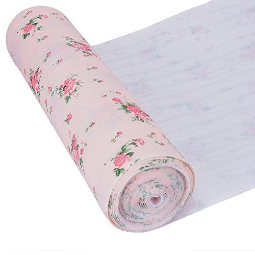 Küche Schrankpapier no-adhesive Schubladenmatte, TankersStreet Schubladeneinlage rutschfeste Schrank Liners Roll Easy Clean 500 x 30 cm (Blume)