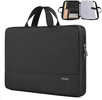 Laptop Sleeve Case 13inch TSA Slim Laptop Case for MacBook Air MacBook Pro Durable Water Resistant Business Briefcase Handle Bag for 13-13.3 inch HP Dell Lenovo Laptop Black