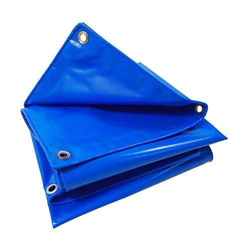 MENG waterdicht zeil trek- en slijtvast beschermzeil blauw vuurvast zonwering gemaakt van clip-mesh geschikt voor outdoor-tent, boot, camping, vissen, vrachtwagen, goederenbaan