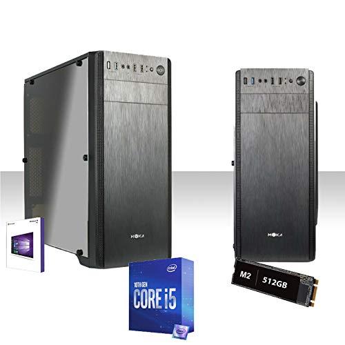 Pc Desktop I5-10600K Fino A 4.8Ghz Sixcore/Ssd M2 512Gb/Ram Ddr4 16Gb/Wifi/Windows 10Pro/Lettore Dvd-Cd/Editing,Ufficio,Grafica,Completo,Pc Fisso