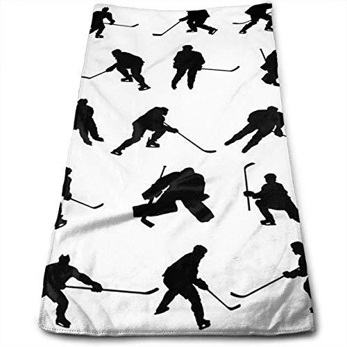 huibe Handtuch Haartuch Eishockey Superweiche Mikrofasertuch saugfähig und schnell trocknend, Sporttuch, Reisetuch zum Wandern, Fitness, Schwimmen (30 x 70 cm)