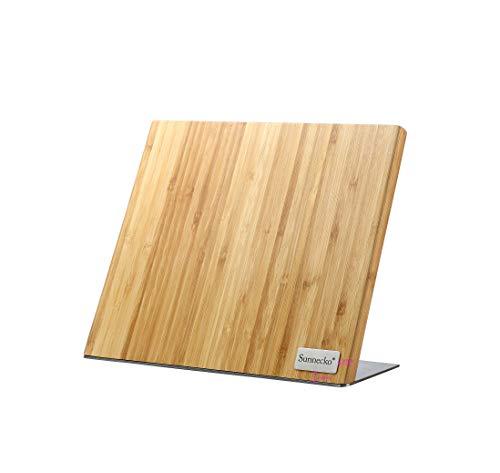 Sunnecko Magnettafel Messerhalter Bambus