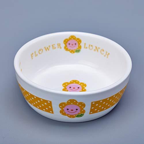 GENETIC Blumen Haustier Hund Abtropfbrett Regal mit einem Keramik Hundenapf Tisch groß Abtropfbrett Teddy Futternapf Katze Schüssel allein gelbe Schale