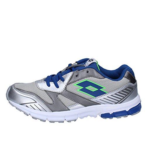 Lotto Zenith Vi Jr L, Zapatillas de Running Unisex niños, Plateado/Azul (Slv MT/BLU Chi), 39