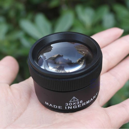 Jiayuane Tragbare 30x36mm Juwelier Optik Lupe Lupe Lupenschleife Tasche