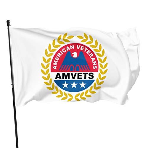 American Veterans Amvets Decorative Garden Flags, Outdoor Artificial Flag for Home, Garden Yard Decorations 3x5 Ft