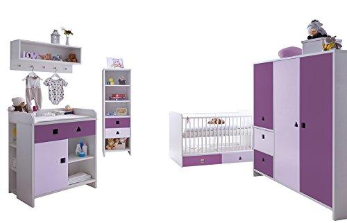 Ticaa Babyzimmer 5 teilig Cubo mit 3 türigen Schrank