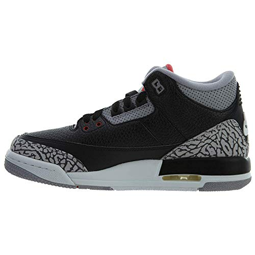 Zapatillas NIKE Air Jordan 3 Retro Black Cement para Hombre en Cuero Gris y Negro 854261-001