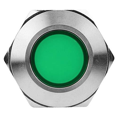 Modificación del coche, lámpara segura y duradera, gran toque a prueba de agua para la instrumentación de ingeniería de modificación del automóvil(12V, green)