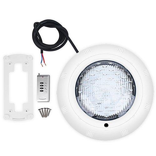 Luz para piscina RGB regulable IP68, impermeable, foco LED subacuático, con cables y mando a distancia, 18 W, luces LED sumergibles con 7 colores, para fuentes, estanques, piscinas
