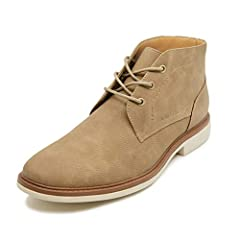 Plain-Toe Chukka Boot Featuring Textured Vegan Leather Upper. Lace-Up Front Closure Very Comfortable Outdoor, indoor, shopping, climbing, walking, working just go anywhere you want and you will fall in love with this comfort feeling Great For Any Dre...