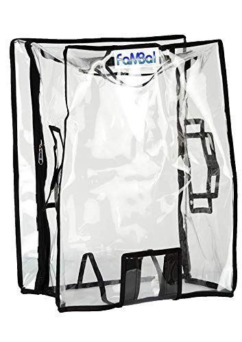 """Fambal Transparent Protective Zipper PVC Dust Proof Cover for Hard/Plastic Body Luggage/Suitcase Trolley Bags_Size: 22"""""""