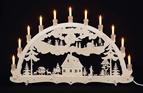 Erzgebirgsstübchen Schwibbogen Gross einfach Waldhaus - Weihnachten Advent Dekoration