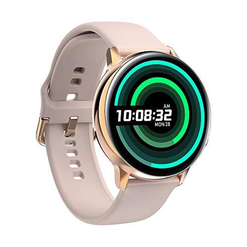 Sport Smart Watch Smart Armband met volledig touchscreen, met Sport-tracking/draadloos opladen, Hartslag bloeddruk Bloedzuurstof Gezondheidsmonitoring,Gold