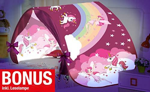 Magic Dreams Märchen Pop Up Tunnel Zelt Spieltunnel Höhle für Hochbett Kinderbett Bogen Bettzelt Bettdach rosa pink