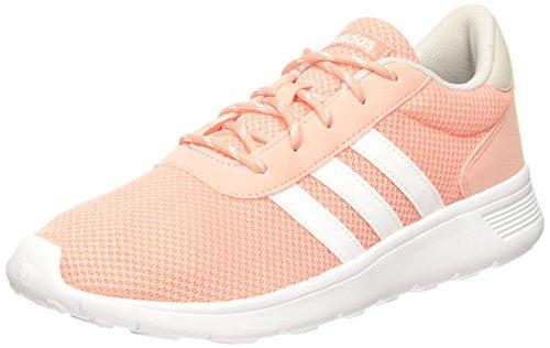 adidas Damen Lite Racer W BB9837 Sneaker, Mehrfarbig (White, Orange 001), 40 EU