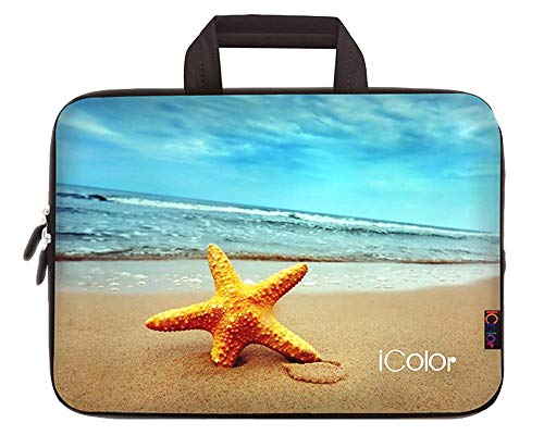 iColor 11.6 12 12.1 12.2 Inch Laptop Carrying Bag - Protective Notebook/Netbook/Chromebook/Ultrabook Sleeve Case - Travel Briefcase Pouch with Handle (Starfish)