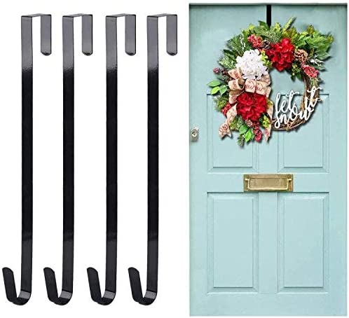 Tebery Premium Over The Door Metal Hanger Wreath 15-Inch Black Sales Fees free