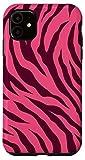 iPhone 11 Tiger Pink and Purple Jam Stripes Print Wild Animal Pattern Case