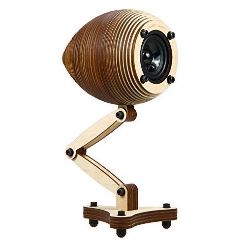 Bausatz für Design Lautsprecher aus Holz 10cm mit Fuß- alle Teile enthalten - mit Visaton FR58