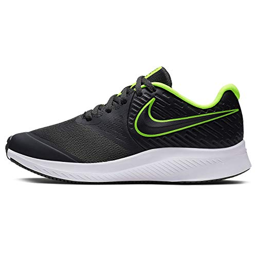 Nike Kids Star Runner 2 (GS) Sneaker, Anthracite/Electric Green - White, 6.5Y Youth US Big Kid