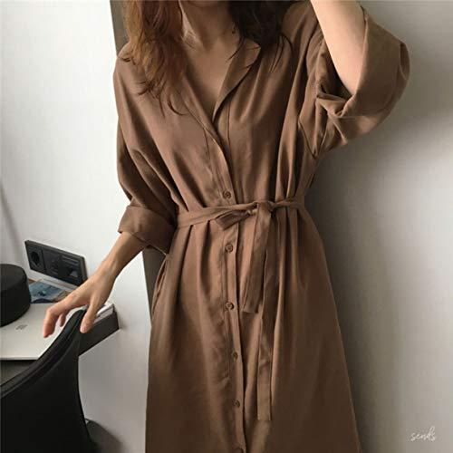 Gabardina para Mujer Abrigo Suelto de Solapa de Color sólido Moda Cardigan Tops Abrigo Largo Frontal Abierto Informal