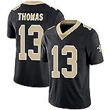 Maillot De Football NFL pour Homme 2018 New Orleans Saints 13# Michael Thomas Maillot De Football Version Broderie Maillot De Sport à Manches Courtes NFL Top T-Shirt
