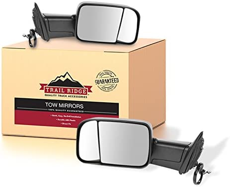 Trail Ridge Tow Mirror Power Heated Signal Puddle OAT Black Pair for Ram Truck product image
