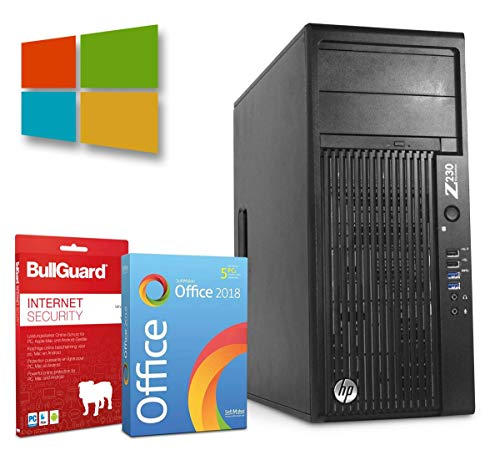 HP Z230 Tower | Intel Core i7-4790@ 3,6GHz | 16GB | 2000GB HDD | DVD-ROM | Nvidia Quadro 2000 Grafikkarte | Windows 10 Pro | BullGuard | SoftMaker Office (Generalüberholt)