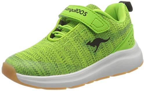 KangaROOS Unisex-Kinder KB-Hook EV Sneaker, Neon Yellow/Jet Black 7013, 34 EU