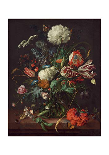 Spiffing Prints Jan Davidsz De Heem - Vase of Flowers - Small - Archival Matte - Framed