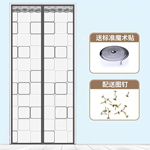 Magneetscherm deur Geïsoleerde deurgordijn zelfsluitend screening voor airconditioning kamer,1