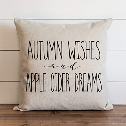 Promini Funda de almohada de otoño con cierre de cremallera oculto, para sofá, banco, cama de 26 x 26 pulgadas