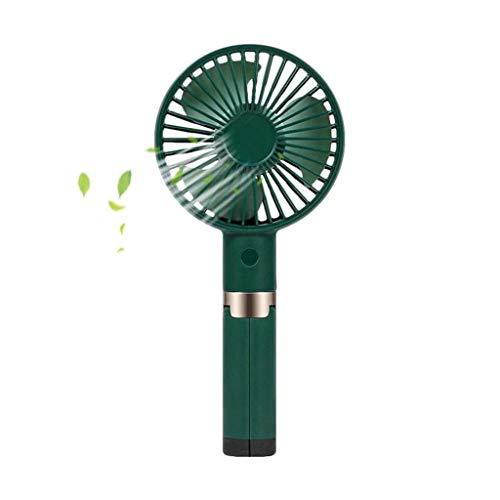 Mini Ventilator, Statief Handventilator USB-handventilator for Persoonlijk Gebruik Oplaadbare Batterij-aangedreven Handventilator Statief Mini-ventilator for Thuis (Color : Green)