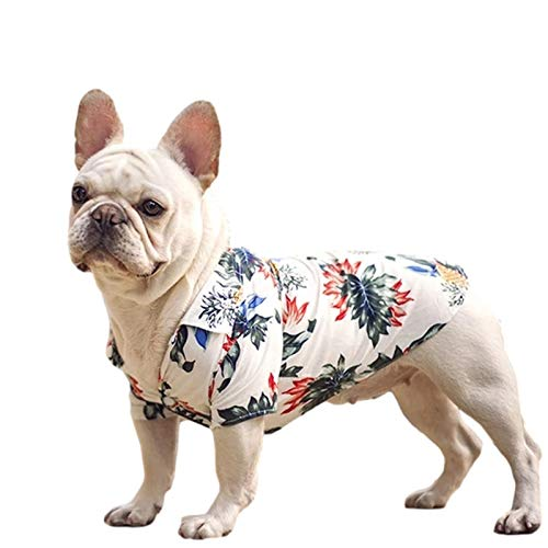 BZB Hawaiian Style Dog Clothes French Bulldog Pet Clothing Summer Pet Shirts for Small Medium Dogs Puppy Chihuahua Ropa Perro Pug