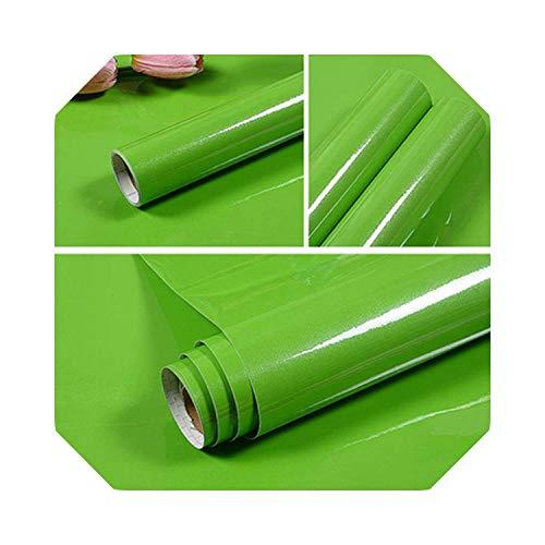 Kinderzimmer Schlafzimmer Wohnen | Moderne DIY selbstklebende Wandaufkleber Küchenschranktür Kleiderschrank Möbel PVC Kontaktpapier einfarbig Wohnkultur Tapete-Grün-40cm X 5m