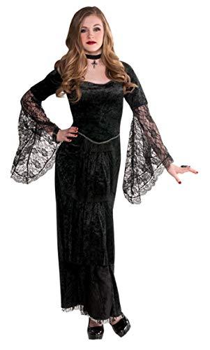 Amscan 999445 - Kinderkostüm Gothic-Lady, Kleid, Halsband, Vampir, Mottoparty, Karneval, Halloween