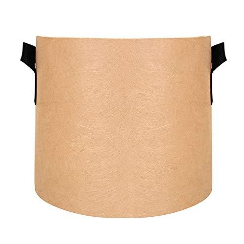 YIREAUD Paquete de 2 bolsas de cultivo premium de 20 galones, macetas de tela no tejida resistente con asas, contenedores de cultivo para interiores y exteriores para verduras y frutas