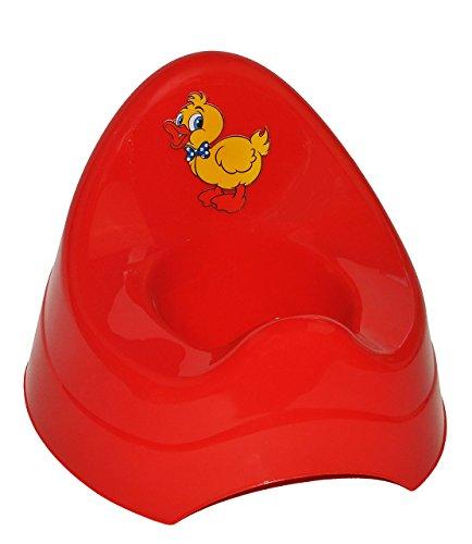 alles-meine.de GmbH Töpfchen / Nachttopf - groß - mit großer Lehne + Spritzschutz - rote Ente - Babytöpfchen / Kindertopf / Lerntöpfchen - Toilettentrainer Klositz WC Sitz Toilet..