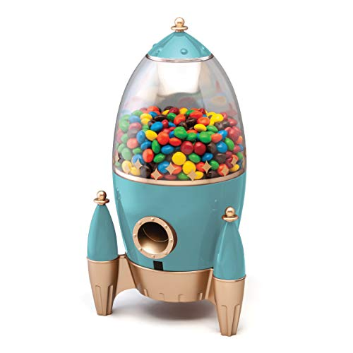 FAO Schwarz Rocket Candy Dispenser, Automatic Gumball Machine for Kids Room, Dispenses...