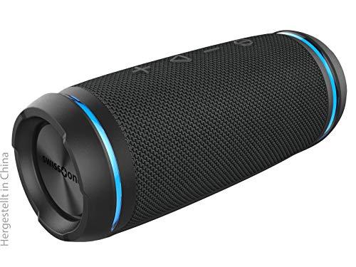 swisstone BX 520 TWS Bluetooth Lautsprecher (Wasserdicht nach IPX6 Standard, Freisprechfunktion, True Wireless Stereo, X-Bass Technologie) dark grey