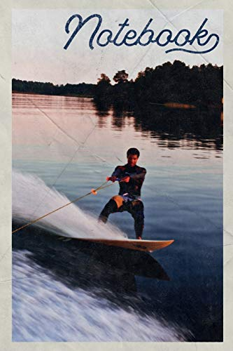 Notebook: Wakeboard Boots Handy Composition Book Journal Diary for Men, Women, Teen & Kids Vintage Retro Design for Notes on Wakeboarding Near London